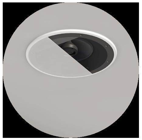 in-ceiling speaker render circle